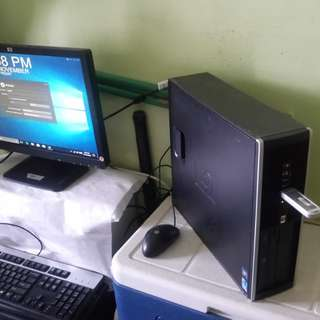 "Desktop SFF Full set➕Hp 19""LCD wide monitor➕Dell keyboard n mouse."
