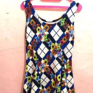 Floral dress flare