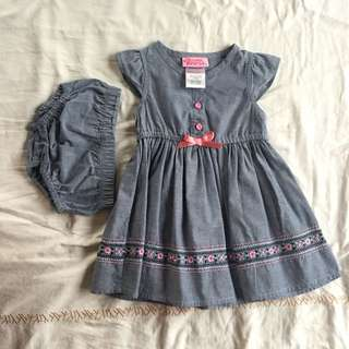 Preloved denim style baby dress