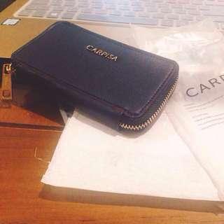 歐洲 平價 品牌 義大利 🇮🇹 拉鍊 皮革 九成新 鑰匙包 卡夾 小包