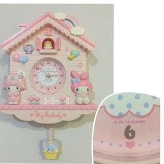 Sanrio My Melody Pendulum Clock (Original from Japan Sanrio Store)