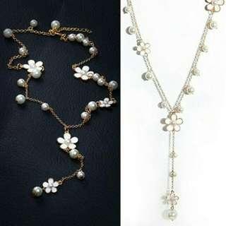 elegent flower faux pearl