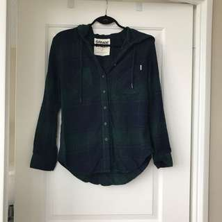Green plaid/flannel