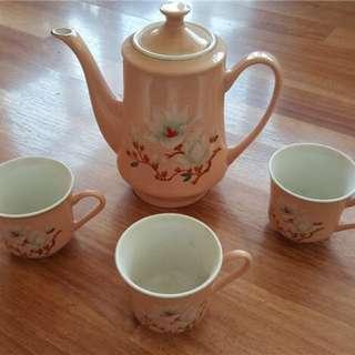 80年代國貨出口瓷茶壺
