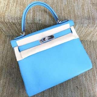 全新現貨🔥Hermes Kelly 28 3z糖果藍🌈超美的顏色