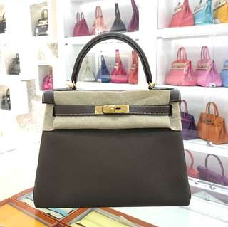 Hermes Kelly 28 大象灰 Etoupe 🐘金扣