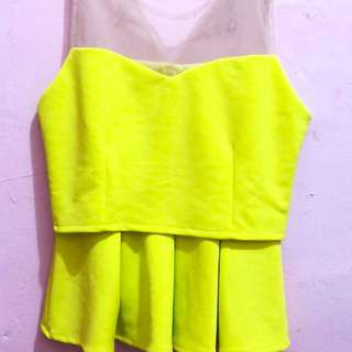 Yellow Transparant Peplum