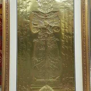 鬼王尊者铜片以框起来了。。  剧说他也是财宝天王,财神之一。