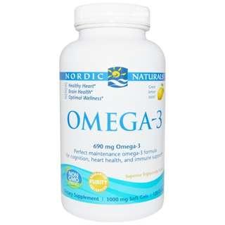 Nordic Naturals, 120 Soft Gels Omega-3, Lemon, 690 mg