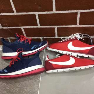 Nike cortez & adidas pure boost