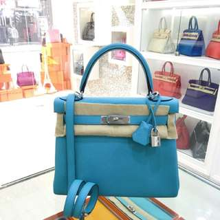全新 Hermes Kelly 28 3Z糖果藍 現貨