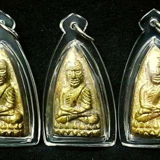 Luang Phor Thuad  Lang Taorit  Roon Reak 1st Batch Lo Phra Parthan   原料是用所有倒模剩下的料加在一起再倒模一次, 过后送给理事的,  出159粒, 法会送理事60粒  Guru : Phot Kea Zhao Seang   Temple : Wat Ban Trang  Year :  2557
