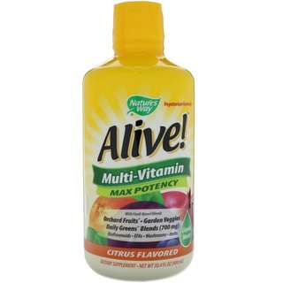 Nature's Way, Alive!, Liquid Multi-Vitamin, Max Potency, Citrus Flavored, 30.4 fl oz (900 ml)