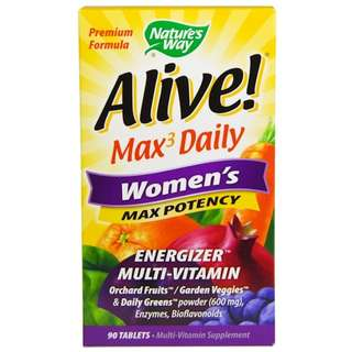 Nature's Way, Alive, Women's Max Potency, 90 Tablets