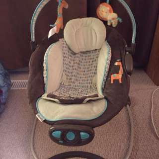 Baby music bouncer chair