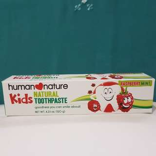 Human Nature Kids Natural Toothpaste