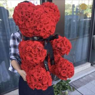 <VALENTINES SPECIAL> BEAR BOUQUET/ FLOWERS/ROSES