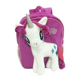 Tas Ransel My Little Pony boneka My Little Pony Rarity or Putih