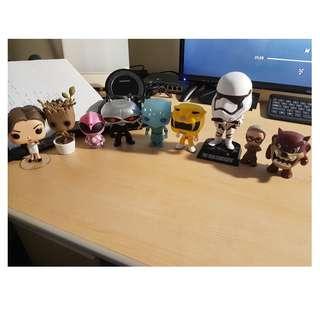 POP Figures - Baby Groot, Pink Ranger, Yellow Ranger, etc...