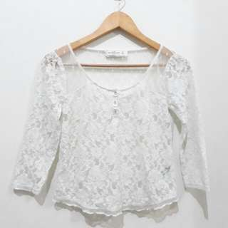 A&F Laced 3/4 Top