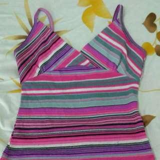 Pink Stripes Blouse & Skirt