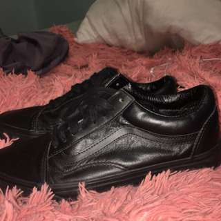 PRICE DROP Leather old school vans