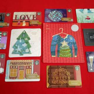 COLLECTIBLE Starbucks Cards SET