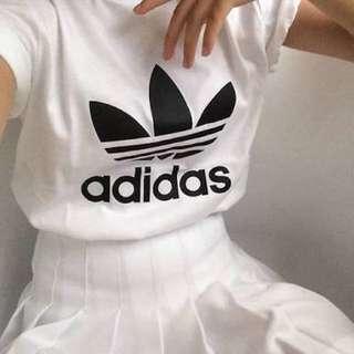 Adidas black and white tshirt