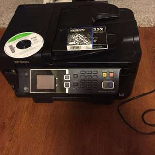 Lightly used printer and black ink cartridge