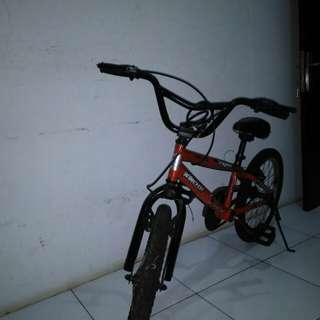 Sepeda bmx wimcycle merah ori