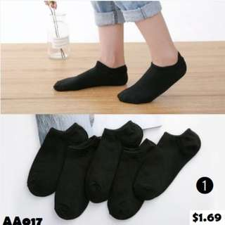 Short Cotton Socks (AA017~019)