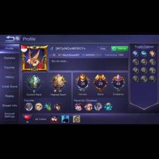 MOBILE LEGENDS ACCOUNT FOR SALE