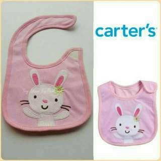 Carter's Bib w Velcro Bunny 0M-1T