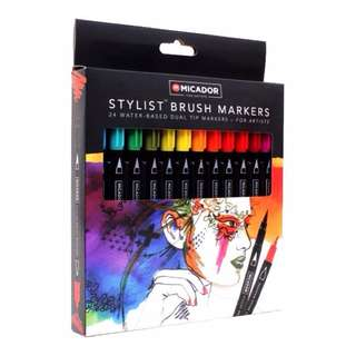 [IN] Micador For Artists Stylist Brush Markers