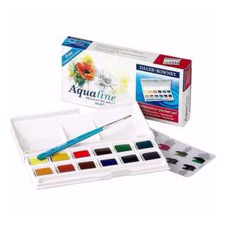 [IN] Daler Rowney Aquafine Watercolour Pocket Set