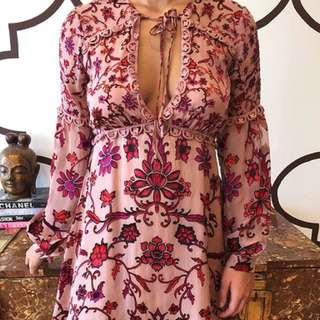 For Love And Lemons Saffron Mini Dress Size S
