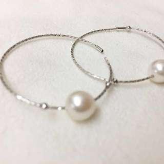 Pearl Earrings - white gold(10K)