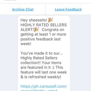 HIGHLY RATED SELLER AGAINNN!!! 🎉