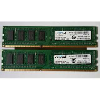 Crucial DDR3 PC-12800 (4gb x2 ) 8 kit