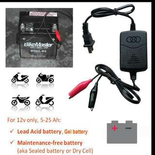 Motorcycle Battery Charger - Motorbike Bike Scooter