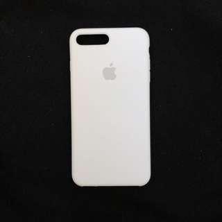 Apple silicone white case