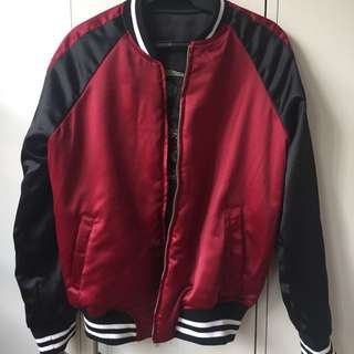 Reversible varsity jacket (with embroidery)