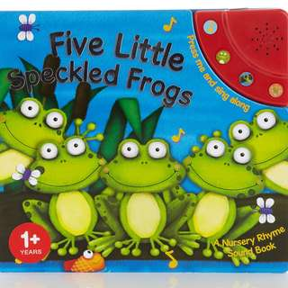REPRICED!! Five Little Speckled Frogs Sound Book