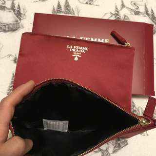 Authentic Prada cosmetic bag
