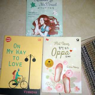 novel korea tinggal 3pcs