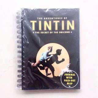 BNIP The Adventures Of Tin Tin Collectible Notebook Journal Planner