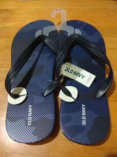 Old Navy Slippers Flipflops Blue Camo