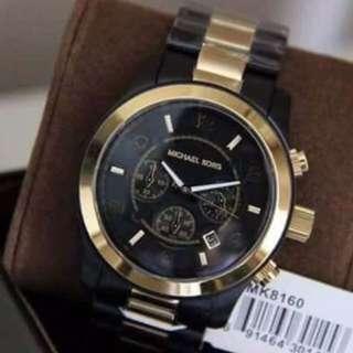 MK chrono black rubber