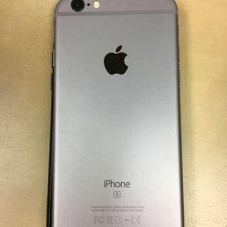IPhone 6s 二手 64GB 太空灰 無單無盒無配件無損傷 淨機 (送case)