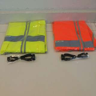 Florescent Safety Vest w/glove clip